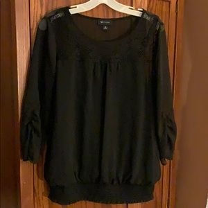 AB Studio Sheer Blouse with Lace top and cami.